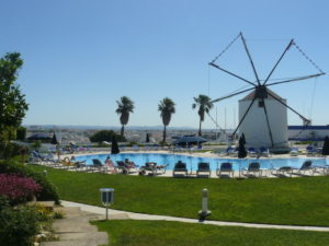 Pool and windmill